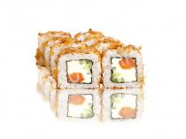 Ролл Кудрявый лосось с кунжутом