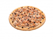 Пицца Курица-грибы 33 см на толстом тесте