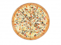 Пицца Ветчина-грибы 33 см на тонком тесте