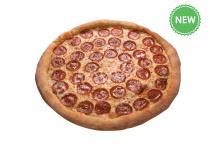 Пицца Дабл Чиз Пепперони 33см на тонком тесте