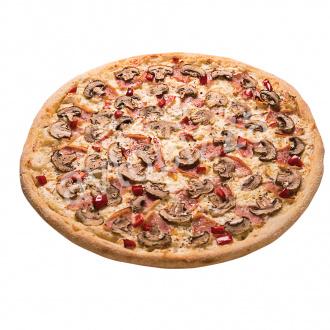 Пицца Ветчина-грибы 33 см на толстом тесте