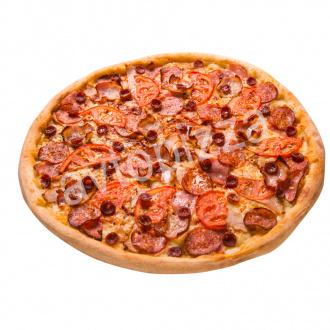 Пицца Мясной пир 33 см на толстом тесте