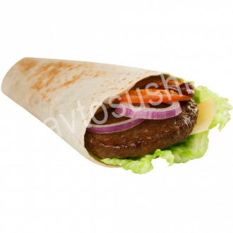 Big beef tortilla roll