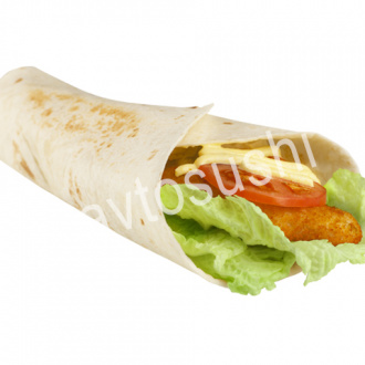 Big chicken tortilla roll