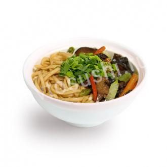 Shiitake buckwheat noodles