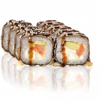Cheese Maki with salmon Tempura