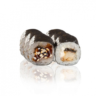 Roll with eel and cream cheese