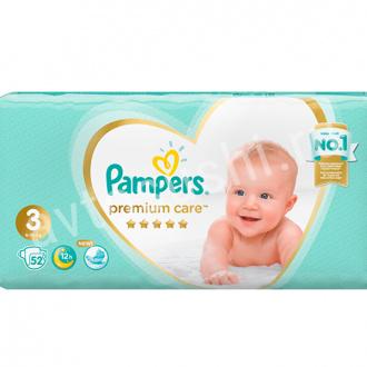 Подгузники PAMPERS PREMIUM миди 52шт+2