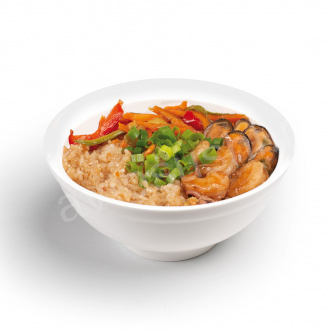 Seafood and vegetable rice