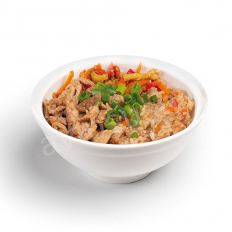 Pork and vegetable rice with