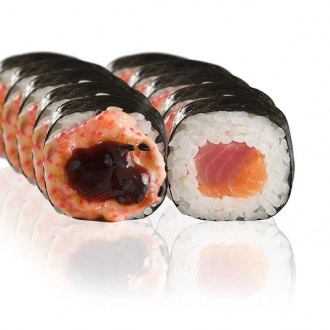 Baked sushi rolls