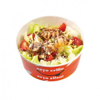 Салат с осьминогами темпура