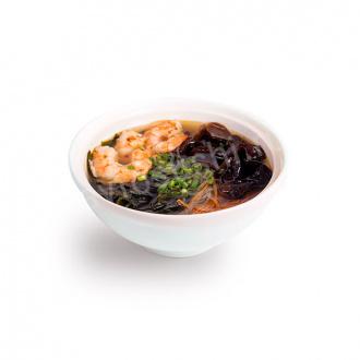 Суп Азиатский с древесными грибами и креветками