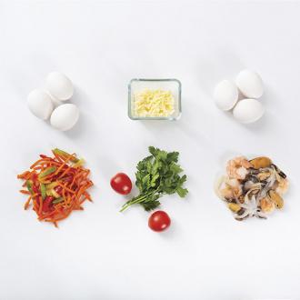 Итальянский омлет Фриттата с морепродуктами